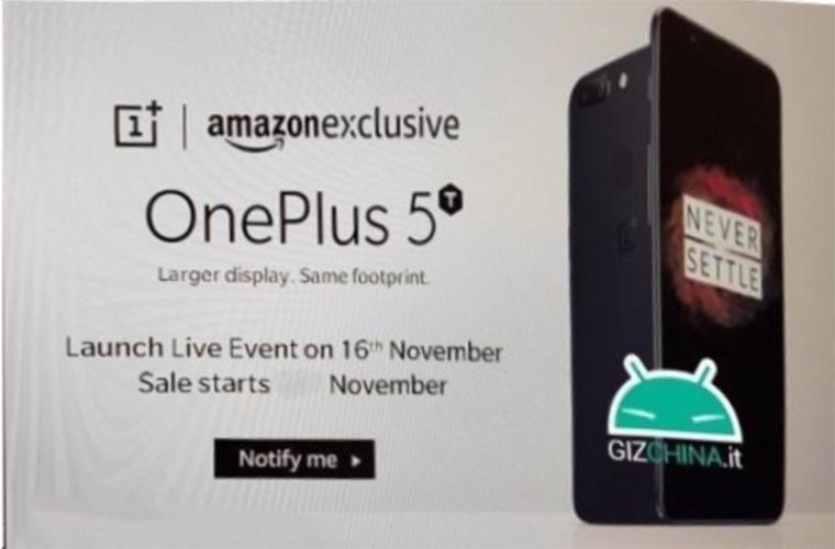 OnePlus 5T цена и дата начала продаж