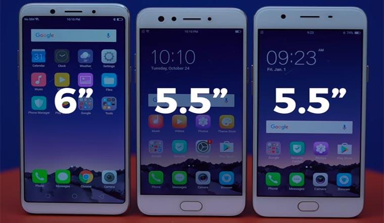 Дизайн Oppo F5