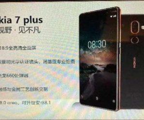 Стали известны характеристики Nokia 7 Plus и появились первые его изображения