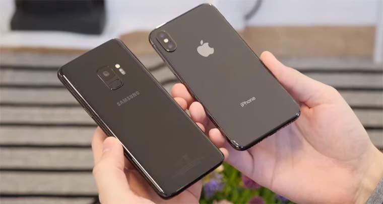 Apple iPhone X и Samsung Galaxy S9