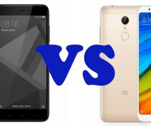 Сравнение смартфонов Xiaomi Redmi 4 и Redmi 5