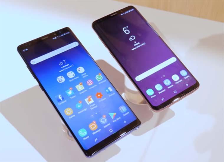 Samsung Galaxy S9 Plus и Galaxy Note 8: Дизайн