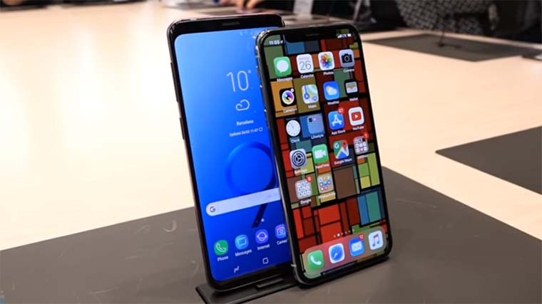 Apple iPhone X и Samsung Galaxy S9: Дисплей