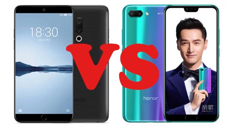 Meizu 15 vs Honor 10