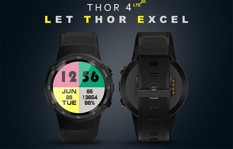 Zeblaze Thor 4: смарт-часы с поддержкой 4G, GPS и 5 МП камерой