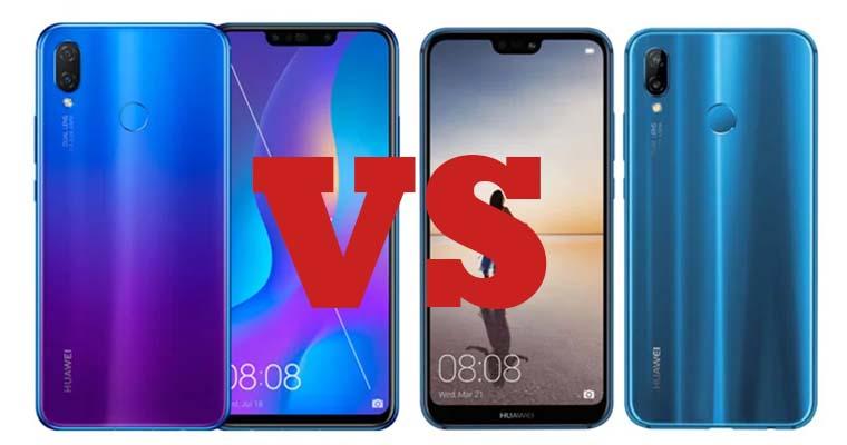 Huawei Nova 3i и Huawei P20 Lite