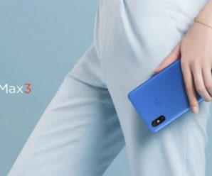 Xiaomi Mi Max 3 с огромным экраном и аккумулятором представили официально